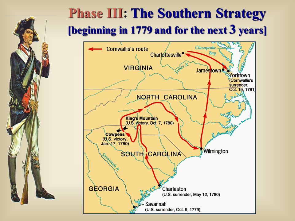 Phase III: The Southern Strategy [beginning in 1779 and for the next 3 years]